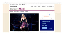 Telegraph UK - Taylor Swift